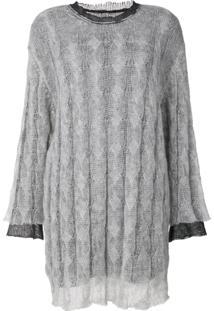 Maison Margiela Vestido De Tricô - Grey