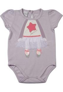 Body Bebê Malha Cup Jacquard Menina - Feminino