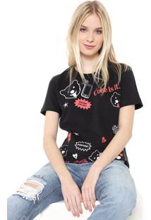 Camiseta Coca-Cola Jeans Aroma Preta