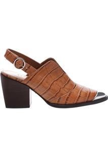 Babuche New Western Croco Neutral | Schutz