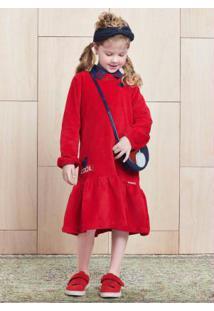 Vestido Com Aplicação Patch Vermelho