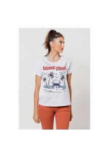 Camiseta Jay Jay Basica Island Vibes Branca Dtg