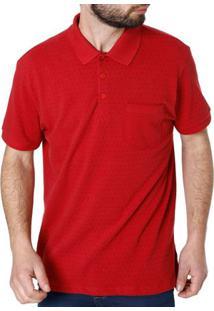 8a96f389fa9e0 Camisa Polo Manga Curta Masculina Vels Vermelho