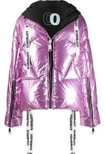 Khrisjoy Metallic Puffer Jacket - Rosa