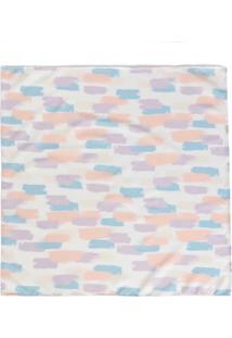 Lenço Quadrado Abstrato Colorido