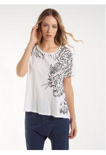 8f16e4a47880 Camiseta Rosa Chá Florence Malha Branco Feminina Camiseta Florence-Branco-P