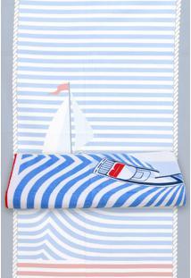 Toalha De Praia Karsten Barcos 76X150Cm Azul