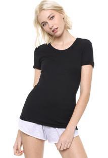 Camiseta Calvin Klein Underwear Ajustada Preta