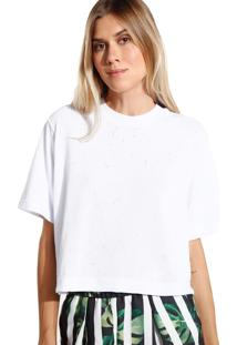 Camiseta John John Basic Malha Off White Feminina (Off White, Pp)