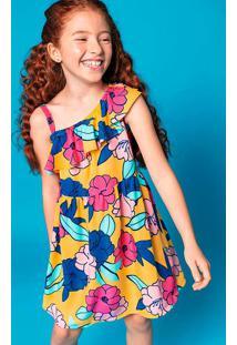 Vestido Infantil Menina Em Tecido De Viscose Hering Kids