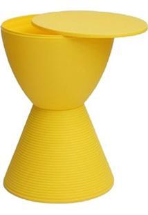 Banqueta Pawn Com Tampo Amarelo - 13331 - Sun House