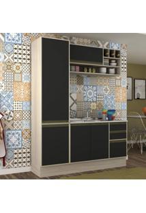 Cozinha Compacta 3 Peças 5 Portas Safira Siena Móveis