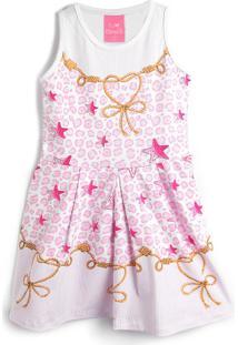 Vestido Kamylus Estrelas Rosa