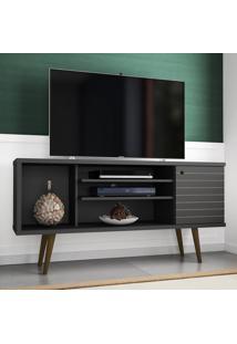 Rack Para Tv Safira Preto Fosco - Móveis Bechara