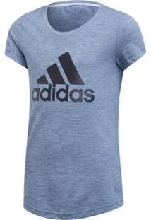 Camiseta Infantil Adidas Id Winner Yg Feminina - Feminino-Azul
