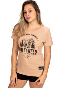 Camiseta Hollyweed California Republic Café Com Leite