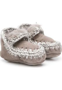 Mou Kids Slip-On Boots - Cinza