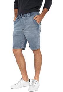 Bermuda Jeans Jogger Delavê Masculina - Masculino-Azul