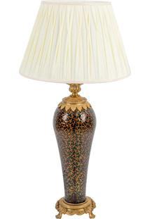 Abajur Decorativo De Cristal E Bronze Sarthe