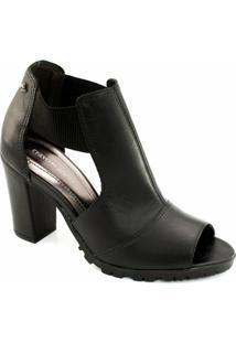 aa5ba65392 Ankle Boot Tratorada Cravo E Canela - Feminino
