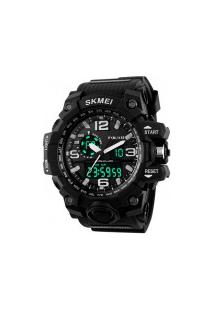 Relógio Digital E Analógico S-Shock Skmei 1155 - Preto
