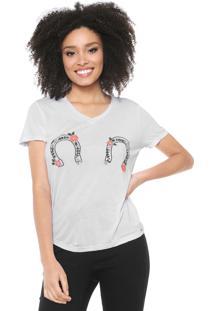 Camiseta Lez A Lez Bordado Branca