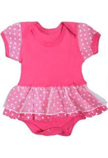 Body Bebê Piftpaft Saia Princesa Feminino - Feminino-Rosa