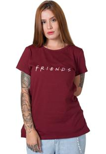 Camiseta Friends Bordô