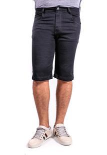 Bermuda Sarja Short Preta Mania Do Jeans