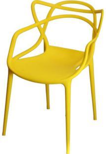 Cadeira Master Allegra Polipropileno Amarela - 21399 - Sun House