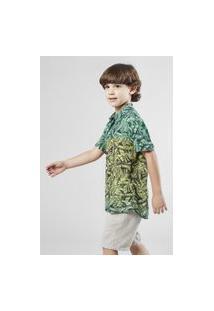 Camisa Mini Sm Bananal Mc Casual Reserva Mini Verde