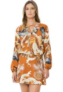 Vestido Teciod Rayon Bali Tigre