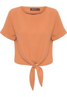 Camiseta Feminina Knot - Laranja