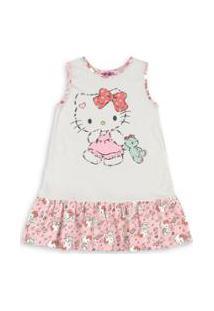 Camisola Bebê Hello Kitty - Feminino-Nude