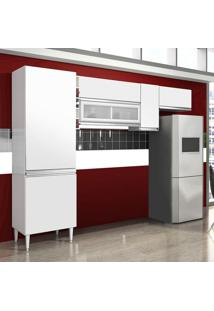Cozinha Compacta Ebano 6 Pt Branco