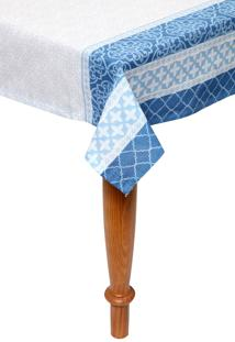 Toalha De Mesa Santista Retângular Royal Verona Azul