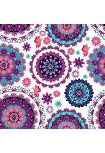 Papel De Parede Adesivo Floral Mandala (0,58M X 2,50M)