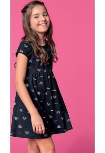 Vestido Infantil Com Efeito Rodado Hering Kids