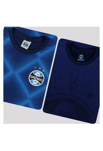 Kit De 2 Camisas Grêmio Immortal Azul