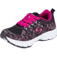 Tênis Junior Sapequinha Running - Masculino-Preto+Pink 5bea9f82b4d7d