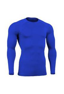 Camisa Bella Fiore Modas Térmica Poliamida Uv Segunda Pele Azul
