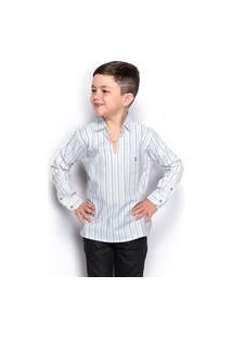 Camisa Social Infantil Menino Manga Longa Listrada Casual
