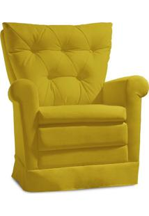 Poltrona De Amamentação Confort Suede Animale Amarelo - Gran Belo