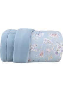 Edredom Essence Queen Size- Azul & Rosa- 240X260Cm