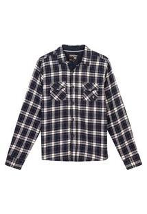 Camisa Xadrez Juvenil 10 A 16 Anos Menino Gangster Marinho