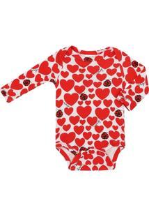 Body Feminino Bebê Suedine Joaninha - Feminino
