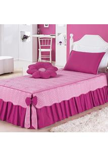 Colcha Dourados Enxovais Mariana Rosa C/ Pink Solteiro 04 Peã§As, - Rosa - Dafiti