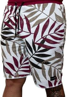 Bermuda Outstanding Lifestyle Moletom Tropical Masculino - Masculino-Floral