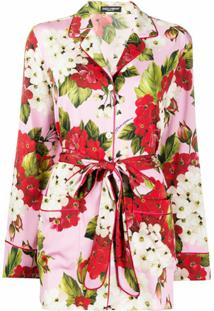 Dolce & Gabbana Blusa De Pijama Floral - Rosa