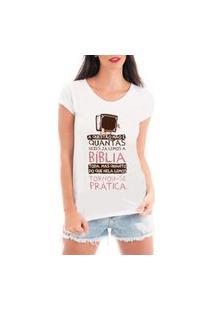 Camiseta Criativa Urbana Bíblia Branca